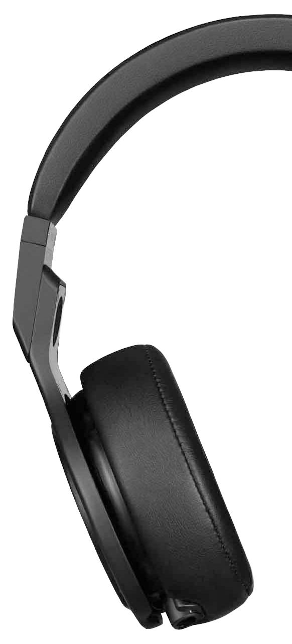 Juodos spalvos garso ausinės pusė