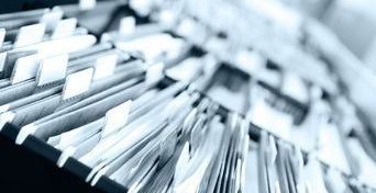 Kartotekinė spinta su dokumentais