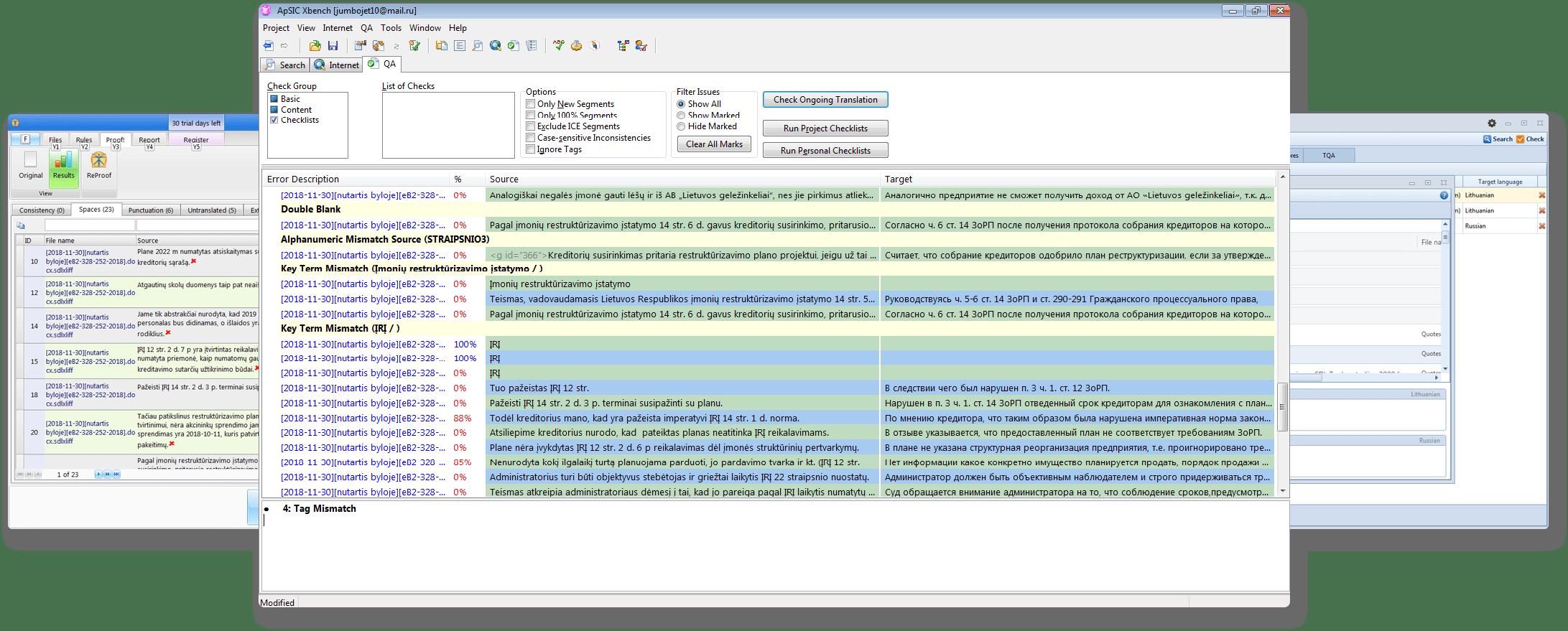 Vertimo kokybės užtikrinimo įrankiai QA